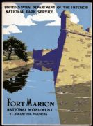 Fort Marion, National Monument, St. Augustine, Florida. Vintage Travel Poster.